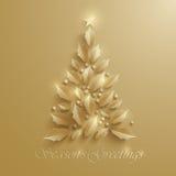Christmas tree. Seasons Greeting. Stock Photos