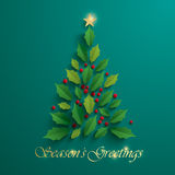 Christmas tree. Seasons Greeting. Royalty Free Stock Photos