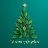 Christmas tree. Seasons Greeting. Royalty Free Stock Photos