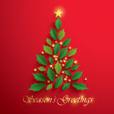 Christmas tree. Seasons Greeting. Royalty Free Stock Photography