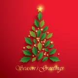 Christmas tree. Seasons Greeting. Royalty Free Stock Photography