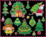 Christmas Tree - set Royalty Free Stock Images