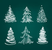 Christmas tree set Royalty Free Stock Photos