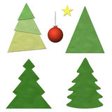 Christmas tree set Royalty Free Stock Images