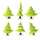 Christmas tree set. Abstract stylized trees. Vector Royalty Free Stock Image