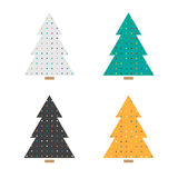 Christmas tree set Royalty Free Stock Images