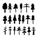 Christmas tree set in hand drawn style. Vector illustration Royalty Free Stock Image