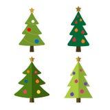 Christmas tree set  illustration Royalty Free Stock Photos