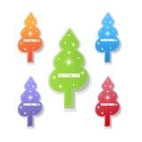 Christmas tree set. Illustration of christmas tree set design Stock Photo
