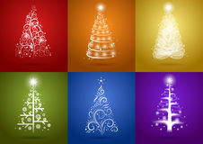 Christmas Tree Set Stock Photos
