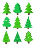 Christmas tree set, stock vector illustration. Eps10 Royalty Free Stock Photography