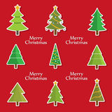 Christmas tree set, vector Royalty Free Stock Image