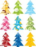 Christmas tree set, vector Stock Images