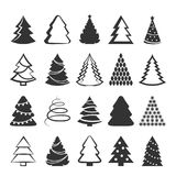 Christmas tree set. Vector element for greeting cards, invitations, banners Royalty Free Stock Images