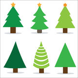 Christmas tree set, vector illustration. Stock Images