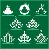 Christmas tree set. Vector illustration Stock Images