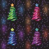 Christmas tree set Stock Photography