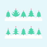 Christmas tree set Stock Photos