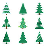 Christmas Tree Set Royalty Free Stock Photo