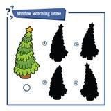Christmas tree shadow Royalty Free Stock Photo