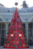 Christmas tree in shanghai IFC Stock Photo