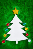 Christmas tree shape Royalty Free Stock Photography