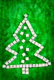 Christmas tree shape Royalty Free Stock Image