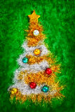 Christmas tree shape Royalty Free Stock Photo