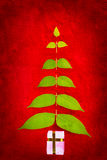 Christmas tree shape Stock Image