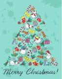 Christmas tree shape Stock Image