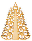 Christmas tree shape with asterisks made of wood  decoration Stock Image