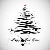 Christmas tree shape in calligraphic style. New Year Christmas tree shape in calligraphic style Royalty Free Illustration