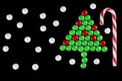 Christmas tree shape candy Stock Image