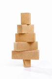 Christmas tree shape from cardboard Stock Image