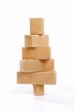 Christmas tree shape from cardboard Stock Image