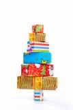 Christmas tree shape from cardboard Royalty Free Stock Photo