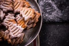 Christmas tree shape cookies Royalty Free Stock Photos