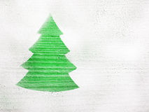 Christmas tree shape Stock Images