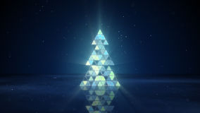 Christmas tree shape of flashing triangles Stock Photo