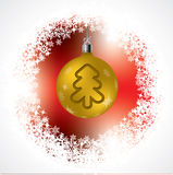 Christmas tree shape on golden decoration Stock Photography