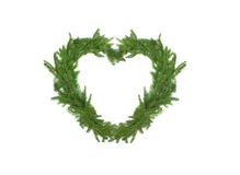 Christmas tree in the shape of heart Royalty Free Stock Image