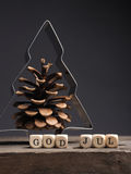 Christmas tree shape with pine cone Stock Photo