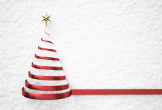 Christmas tree shape on snow Stock Photography