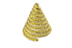 Christmas tree shape in tinsel Royalty Free Stock Image