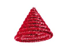 Christmas tree shape in tinsel Royalty Free Stock Photography
