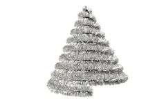 Christmas tree shape in tinsel Royalty Free Stock Photos