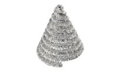 Christmas tree shape in tinsel Royalty Free Stock Images