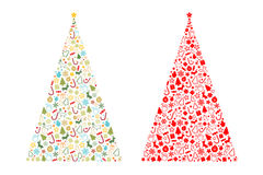 Christmas tree shape. On white background vector illustration Stock Images