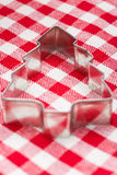 Christmas tree shaped cookie cutter Stock Image