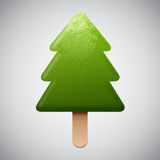 Christmas tree shaped ice cream Royalty Free Stock Images